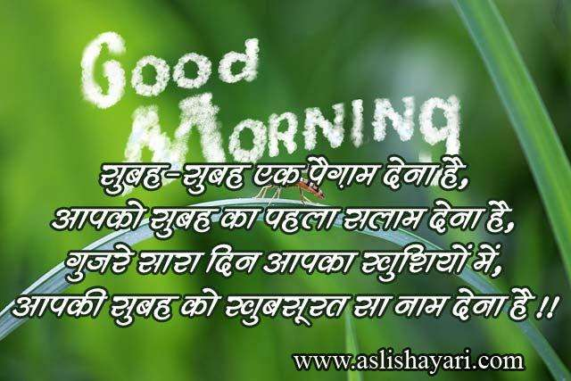 Good Morning Wallpaper With Love Sayari : Hindi Good Morning Shayari Wallpapers - AsliShayari.com